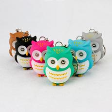 Owl, keyholder, led, ringsbagkeychain