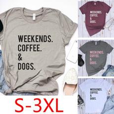 Summer, Coffee, topsamptshirt, Cotton T Shirt