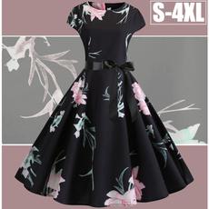 Swing dress, pleated dress, Chinese, Sleeve