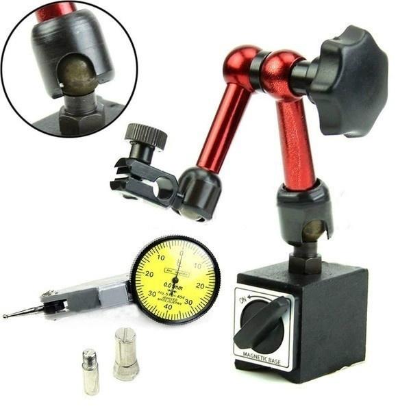 measuringgaugingtool, dial, adjustablemetaltestindicatorholder, dialgaugetestindicator