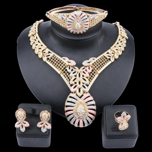nigerianjewelrysetforwomen, bridal accessories, gold, Bridal Jewelry Set