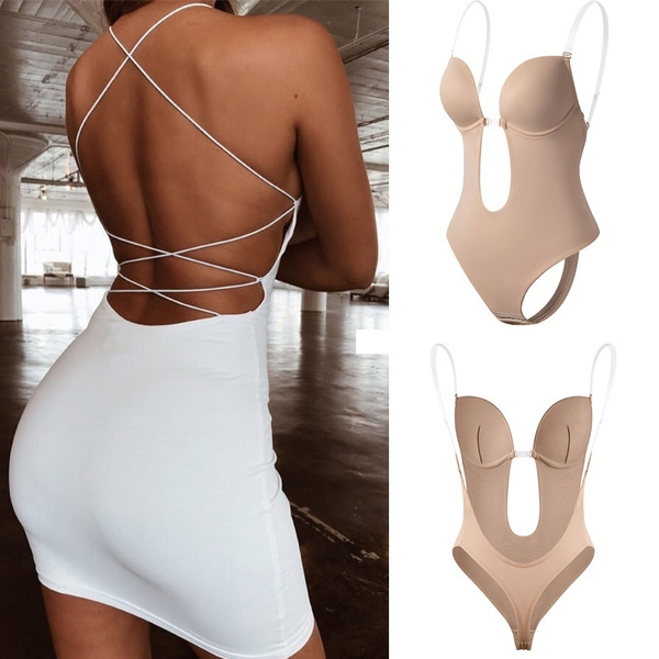 Underwear, Bras, builtinbra, backlessbodysuit