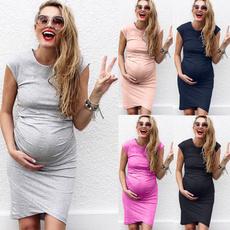 Maternity Dresses, Plus Size, Algodón, Elastic