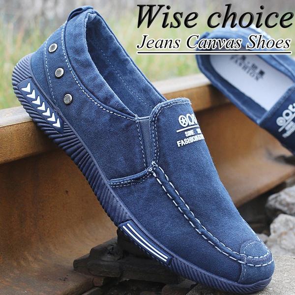 Summer Men Shoes Men Wash Jeans Canvas
