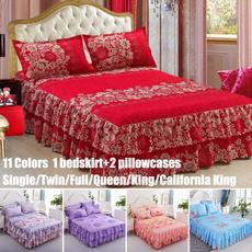 Flowers, bedspreadset, queensizebedskirt, bedskirtsqueensize