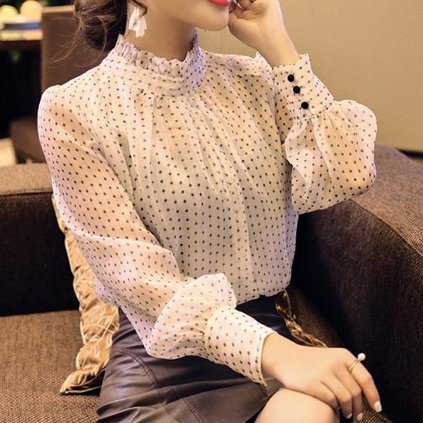 blouse, Sleeve, chiffon, Long Sleeve