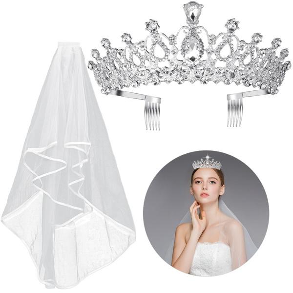 rhinestonetiara, ivorygirldresse, Wedding Accessories, Elegant