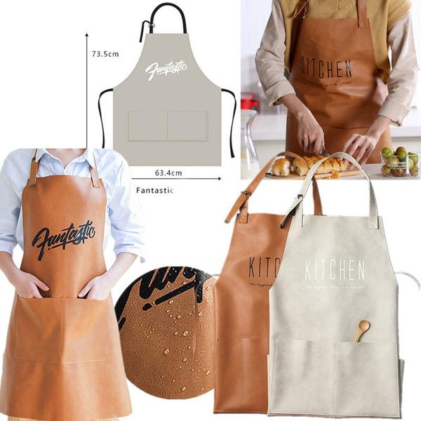 apron, Fashion, Waterproof, kitchenleatherapron