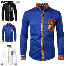 Fashion, africanclothe, Spring/Autumn, long sleeved shirt