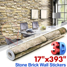 bricksticker, bedroomwallpaper, Home Decor, TV