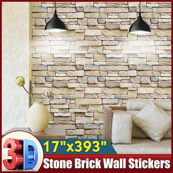 bricksticker, bedroomwallpaper, art, livingroomsupplie