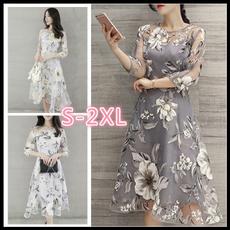 Summer, Fashion, Lace, long dress