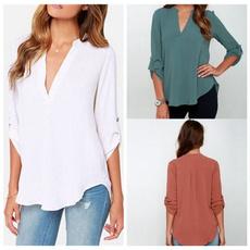 blouse, vneckcloth, Womens Blouse, chiffon