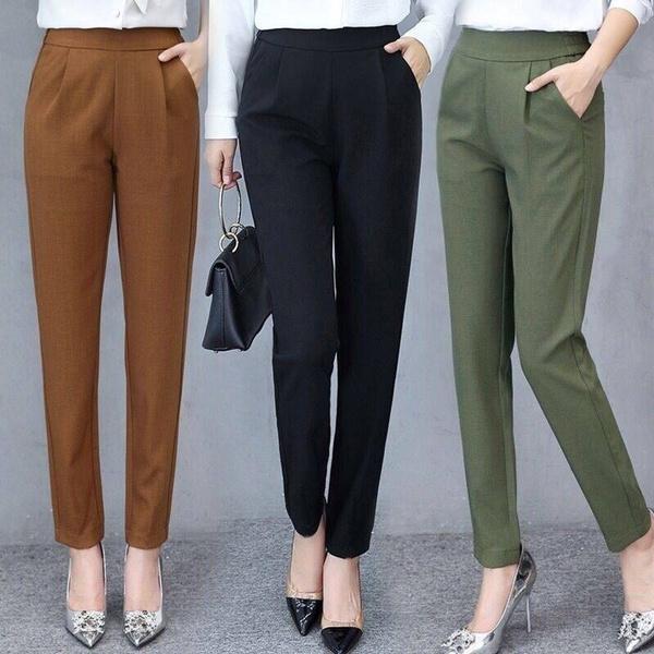 Women Pants, Summer, elastic waist, skinny pants