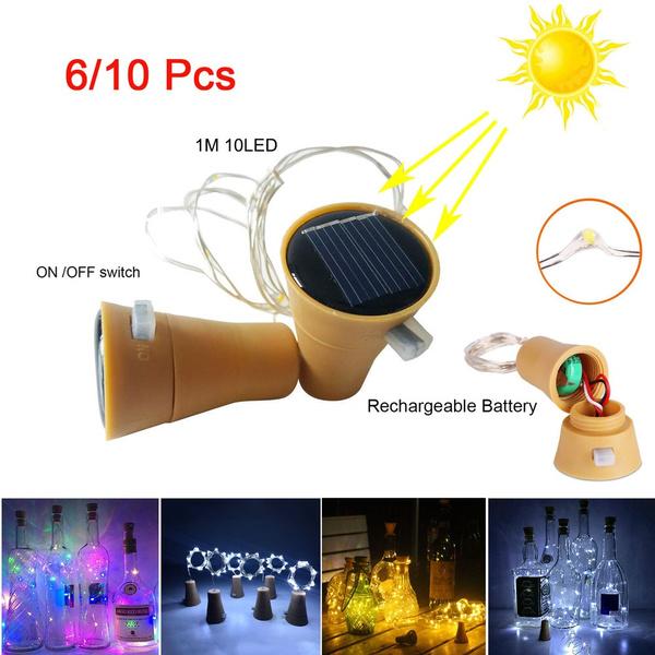 led, fairylight, partydecor, bottlelamp