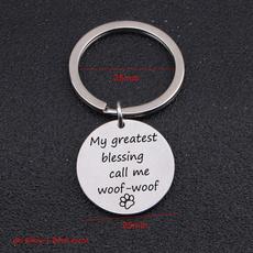 Steel, dogfootprint, Key Chain, Jewelry