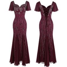 gowns, Sleeve, longreddres, Cap