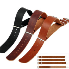 brown, Army, leather, watchleatherband