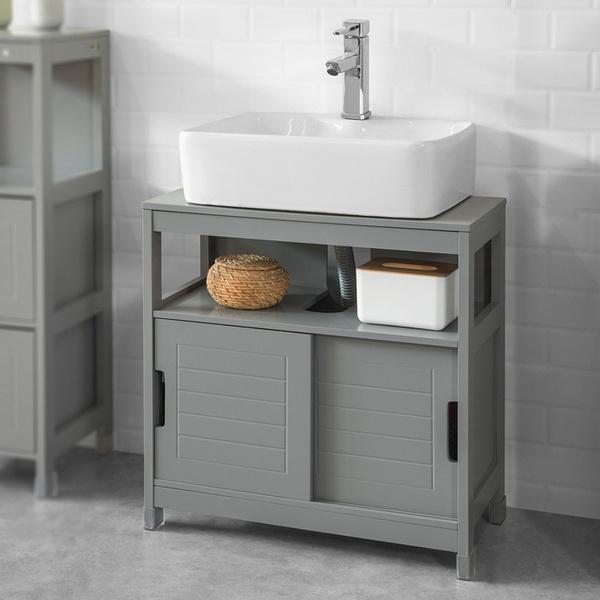 Bathroom, Door, Wooden, Shelf