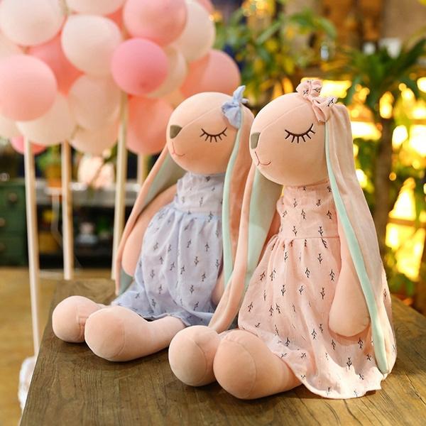 pink, cute, Baby Girl, longearrabbit