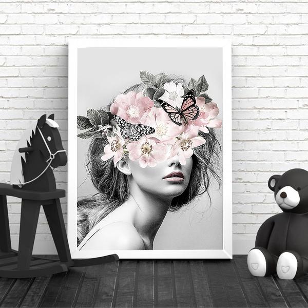 art print, butterfly, canvasart, Flowers