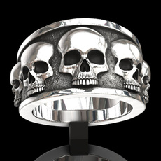 Goth, hip hop jewelry, ringsforgift, Stainless Steel