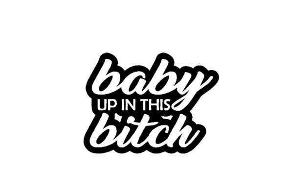 CHOOSE SIZE BABY ON BOARD VINYL DECAL cute expecting mother mom dad