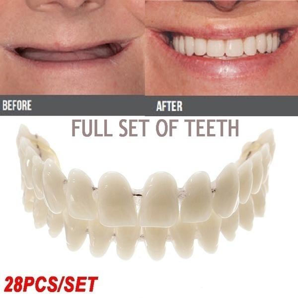 dentureupperlowershade, healthampbeauty, acrylicresinteeth, artificialteeth