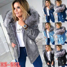 Casual Jackets, Plus Size, Long Sleeve, denim jacket