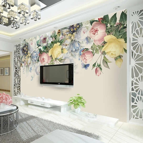 Flowers, art, Wall, Rose