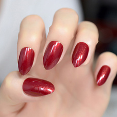 Fake Nails, Beauty, winered, pointed