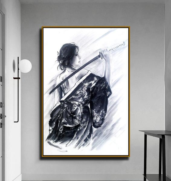 Vintage, Decor, painting, samuraioilpainting