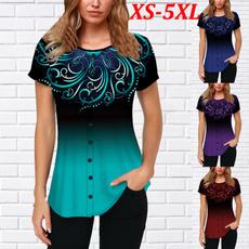 gradientcolor, blouse, Shorts, Necks