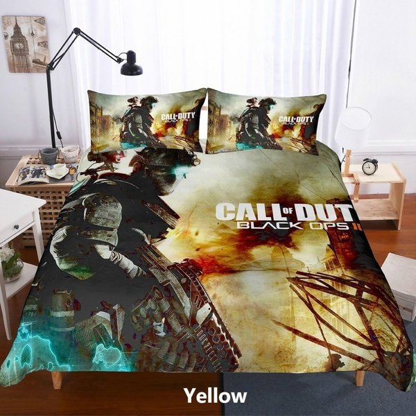 Digital Call Duty Game Pattern Capa, Call Of Duty Queen Bedding