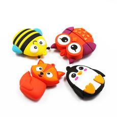 Owl, Penguin, usb, Fox