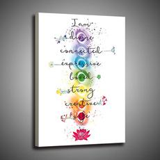 yogastudiowallart, colorfulchakrameditationprint, Modern, chakraprint