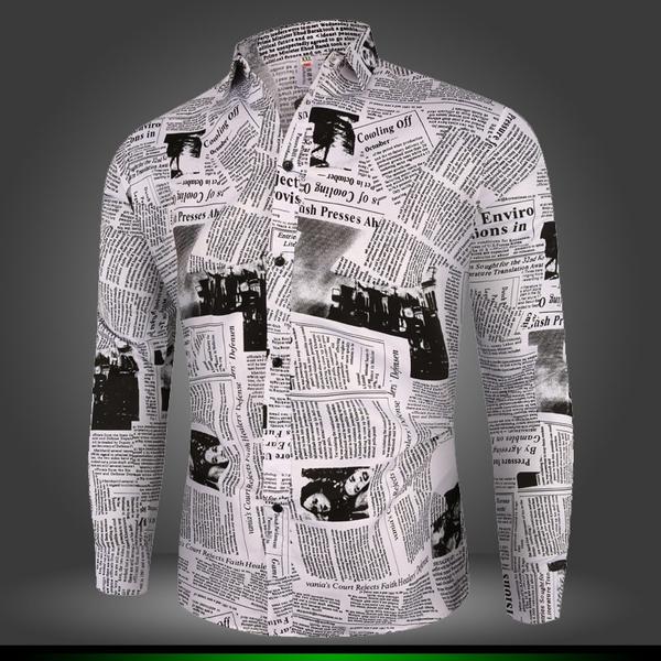 Turn-down Collar, Fashion, Shirt, mens tops
