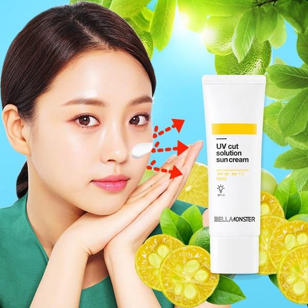 Beauty, bellamonster, whitening sunscreen face, uv