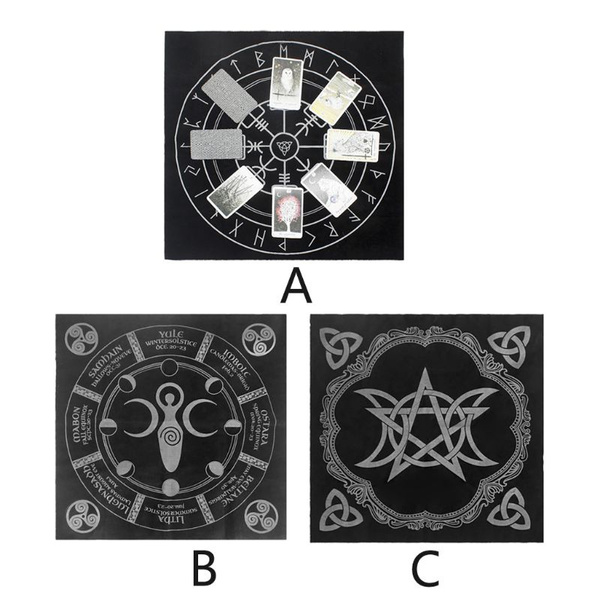 tarotclothflannel, pentagrampaganaltar, pentagram, paganaltar