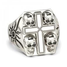 Sterling, sterling silver, Jewelry, skull