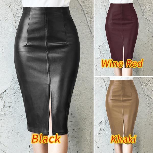 pencil, pencil skirt, leather, slimskirt