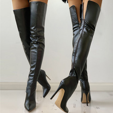 wedge, Moda, Botas, pointedtoehighboot