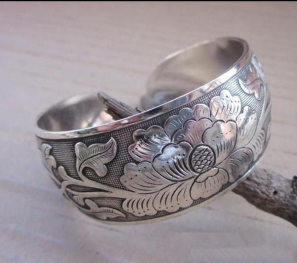 tibetancuffbracelet, vintagebanglebracelet, Fashion, Jewelry