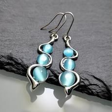 Blues, Fashion, Dangle Earring, Sterling Silver Earrings