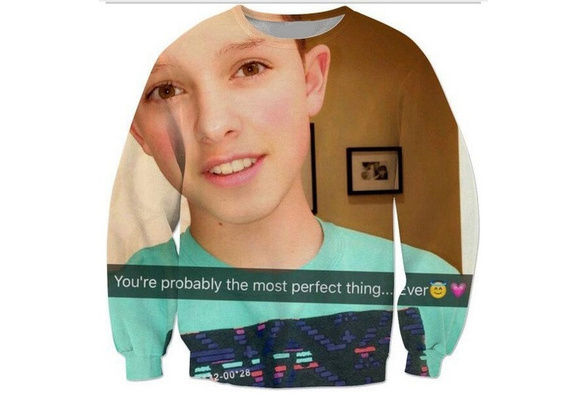 Emoji 3D Printed Crewneck Casual Long Sleeve Hip Hop Jacob Sartorius  Sweatshirts Music Boy Hoodies Sweats Outfits W29