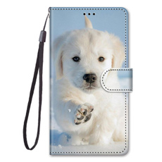 case, puppy, Phone, leather