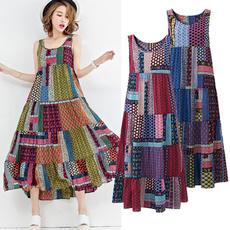 Plus Size, vest dress, long dress, Vintage