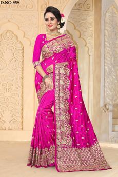 pink, saree, art, sari