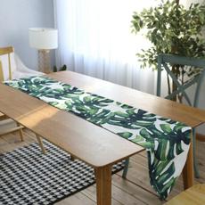 party, kitchentableflag, palmleavestablerunner, leaf
