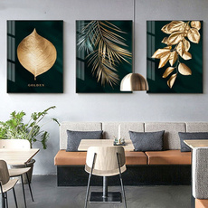 paintingsforlivingroom, golden, Plants, art